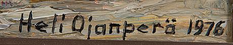 Heli ojanperÄ, öljy kankaalle, signeerattu ja päivätty 1976.