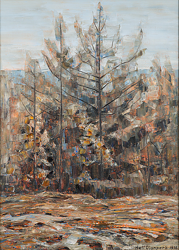 Heli ojanperÄ, oil on canvas, signed and dated 1976.