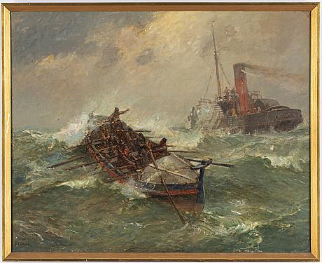 Bernard finegan gribble, oil on canvas, signed.