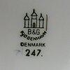 """Buljongkoppar med fat, 10 st, porslin, """"måsen"""", royal copenhagen, 1900-tal."""
