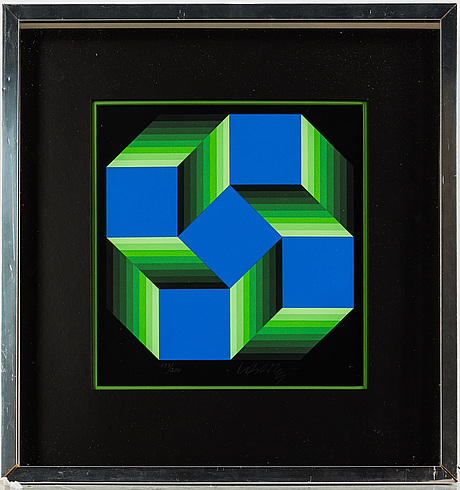 Victor vasarely, silk screen in colours, signed and numbered 178/200 in pencil.