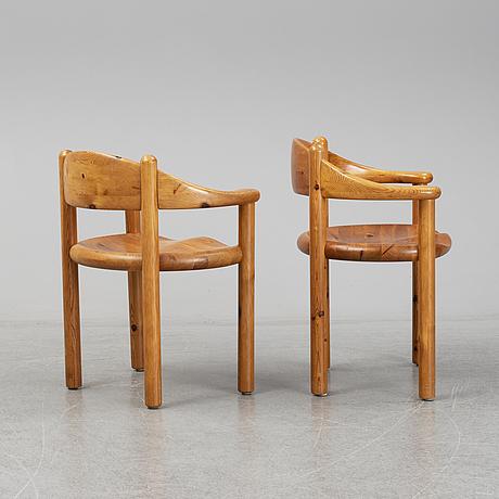 Rainer daumiller, 4 solid pine chairs, 1960s-/1970s, hirtshals furniture a/s, denmark.