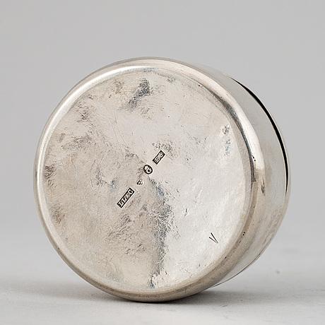 Dosor, 8 stycken, silver. sent 1700/1800-tal.