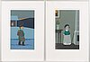 Two serigraphs by pentti koivikko, signed and dated -96, numbered 18/150 and 28/150.
