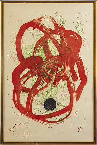 Joan miró, litograph, signed and numbered 13/30.