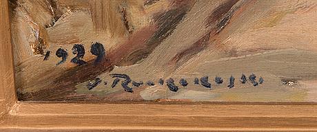 Jalmari ruokokoski, olja på duk, signerad och daterad 1929.