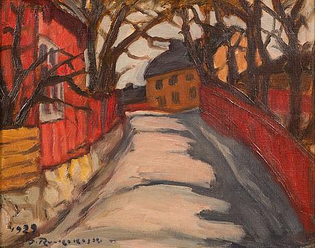 Jalmari ruokokoski, oil on canvas, signed and dated 1929.