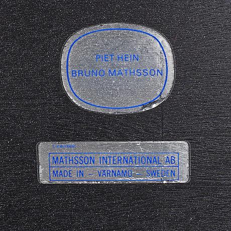 Piet hein and bruno mathsson, a 'trisuperellips' table, bruno mathsson international, värnamo.