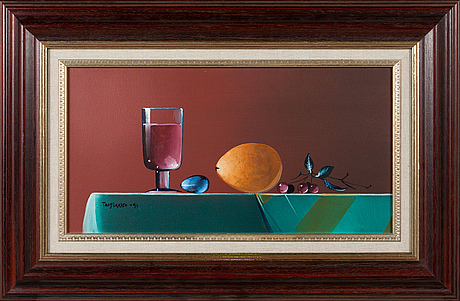 Terry laakso, oil on canvas, signed and dated-91.