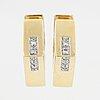 ÖrhÄngen, 18k guld med små åttkantslipade diamanter.