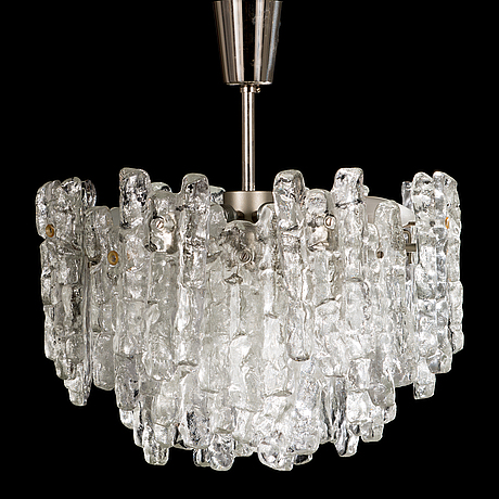 "A 1960s ""ice block chandelier"" by j.t design, kalmar, austria, 1960s."