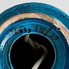 Aldo londi, a 'rimini blu' ceramic table lamp, bitossi, italy mid-20th century.