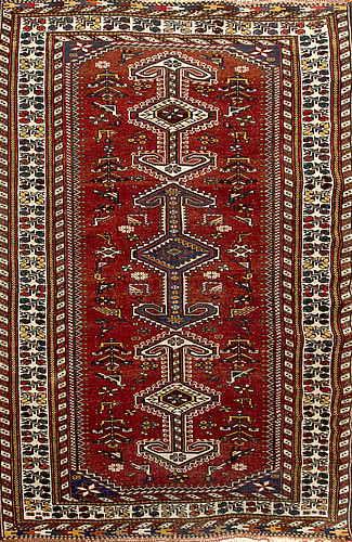 A semiantique/antique caucasian carpet ca 210 x 130 cm.