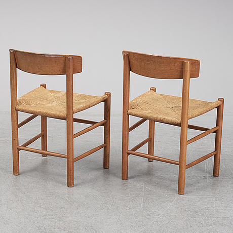 BØrge mogensen, seven model j39 chairs, denmark, second half of the 20th century.