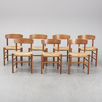 BØRGE MOGENSEN, seven model J39 chairs, Denmark, second half of the 20th century.
