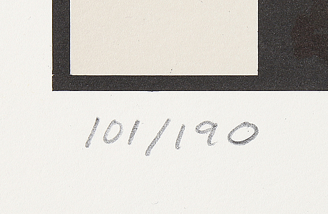 Jan stenmark, a litograph in colours, signed and numbered 101/190.