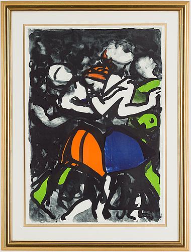 Peter dahl, färglitografi, signerad peter dahl och numrerad ea med blyerts.