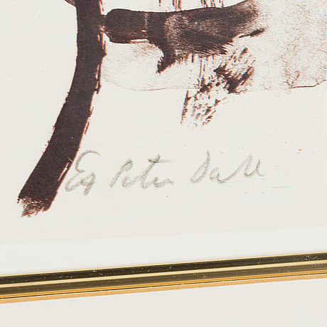 Peter dahl, lithograph in colours, signed peter dahl and numbered ea in pencil.