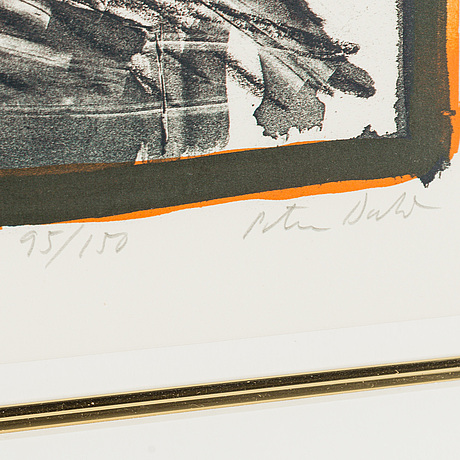 Peter dahl, lithograph in colours, signed peter dahl, dated 1984 and numbered 95/150 in pencil.