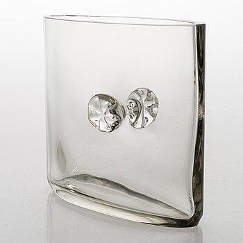 TAPIO WIRKKALA,  a 1960s glass vase, signed Tapio Wirkkala -3308.