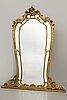 Spegel, louis xv-stil tidigt 1900-tal.