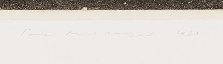 Pentti lumikangas, signeerattu ja päivätty 1980, numeroitu 32/90.
