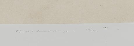 Pentti lumikangas, akvatinta, signeerattu ja päivätty 1980, numeroitu 32/90.