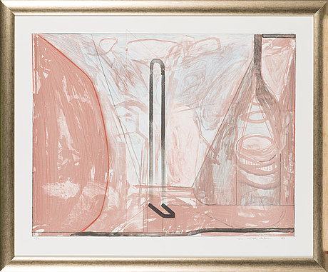 Jan kenneth weckman, colour lithograph, signed and dated 1989, numbered 65/90.