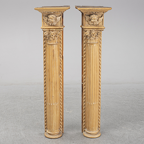 A pair of wall decorations, first half of the 19th century.