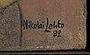 Nikolai lehto, oil on board, signed and dated -82.