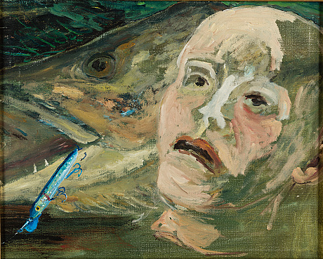 Hans wigert, oil on canvas, signed hans wigert and dated grundsunda stavsnäs 1997-1998 on the reverse.