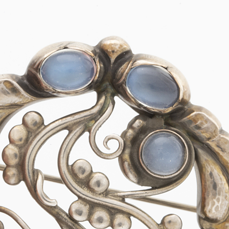 "Georg jensen, brooch model 159, ""moonlight blossom""."