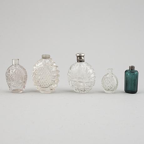 Snusflaskor, 5 st, 1700-/1800-tal.