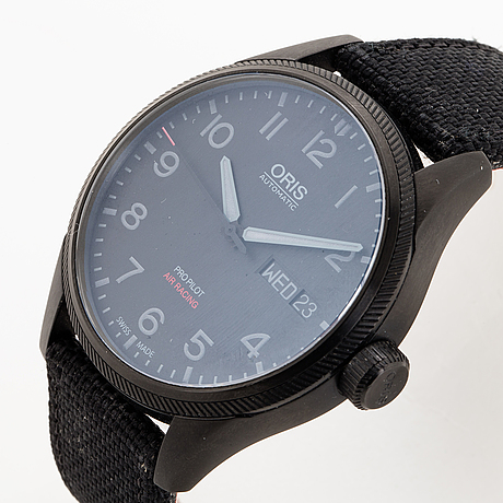 Oris, big crown, pro pilot, air racing, edition v, wristwatch, 45 mm.