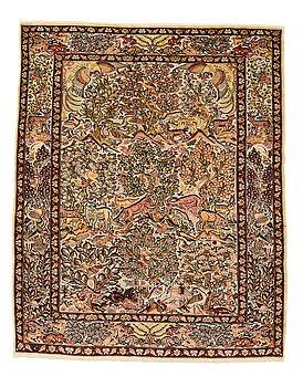 238. Matta, Old, silke Hereke, Souf, ca 132 x 109 cm.