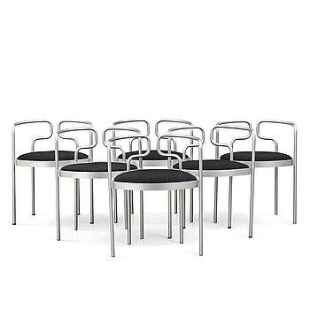 "9. Henning Larsen, a set of 6 ""model 9230"" chairs, Fritz Hansen, Denmark, post 1967."