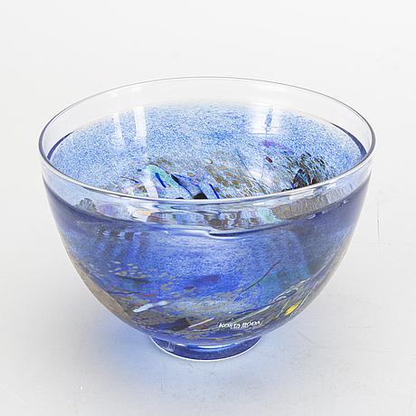 """Bertil vallien, glas,  3 delar""""satellite""""kosta boda."""