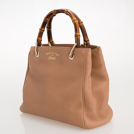 "Gucci, väska, ""small bamboo leather shopper""."