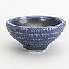 KÅge verkstad, two stoneware bowls, sweden, mid 20th century.