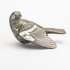 Tyra lundgren, a stoneware sculpture of a bird.
