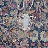 Matta, antik/semiantik kirman, ca 384,5-391,5 x 314,5-323 cm.