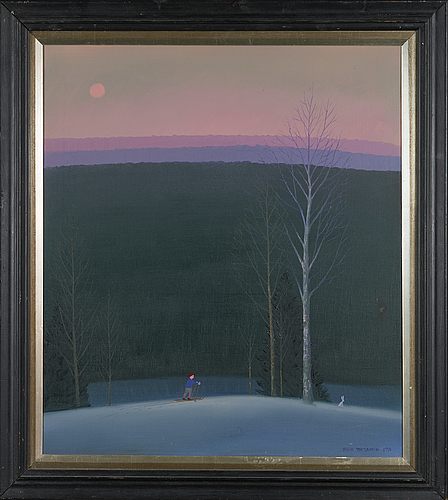 Jorma turtiainen, oil on canvas, signed and dated 1990.