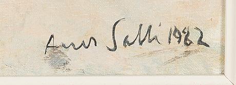 Aares salli, olja på duk, signerad och daterad-82.