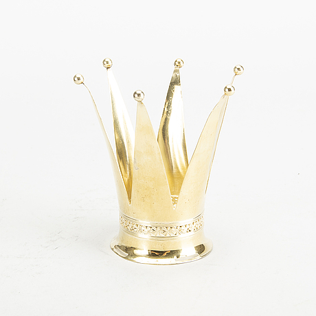 A swedish 20th century gilded silver crown mark of k&e karlsson göteborg 1941, weight ca 43 gr.