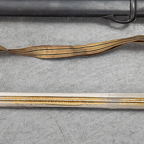 An infantry officer's sword 1899 pattern, with scabbard.