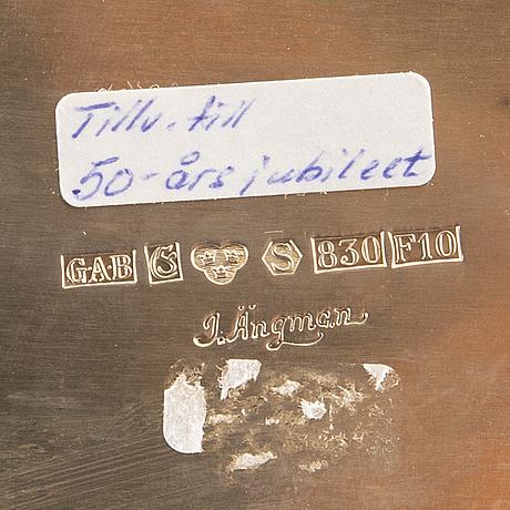 Ljusstake, skÅl samt bÄgare, silver 1900-tal.