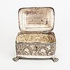 A 19/20th century silver baroque style suger box, weight ca 465 gr.