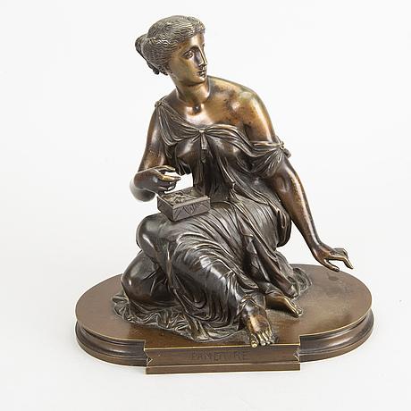 Pierre eugÈne Émile hÉbert, a signed bronze sculpture.