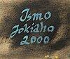 Ismo jokiaho, diptyk, olja på duk, signerad och daterad 2000 a tergo.
