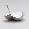 Tapio wirkkala, a leaf shaped silver bowl, marked tw, kultakeskus, hämeenlinna 1956. design year 1954.